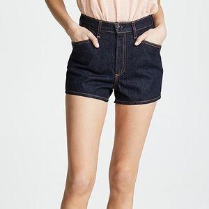 Rag & Bone New York Ellie Dark Denim Jean Shorts